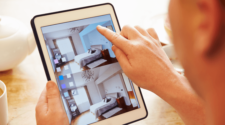 Building an Online Brand is Like Building Homes Tablet Image