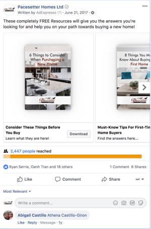 facebook ad carousel example premium content image