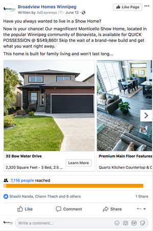 facebook ad carousel example quick possession image